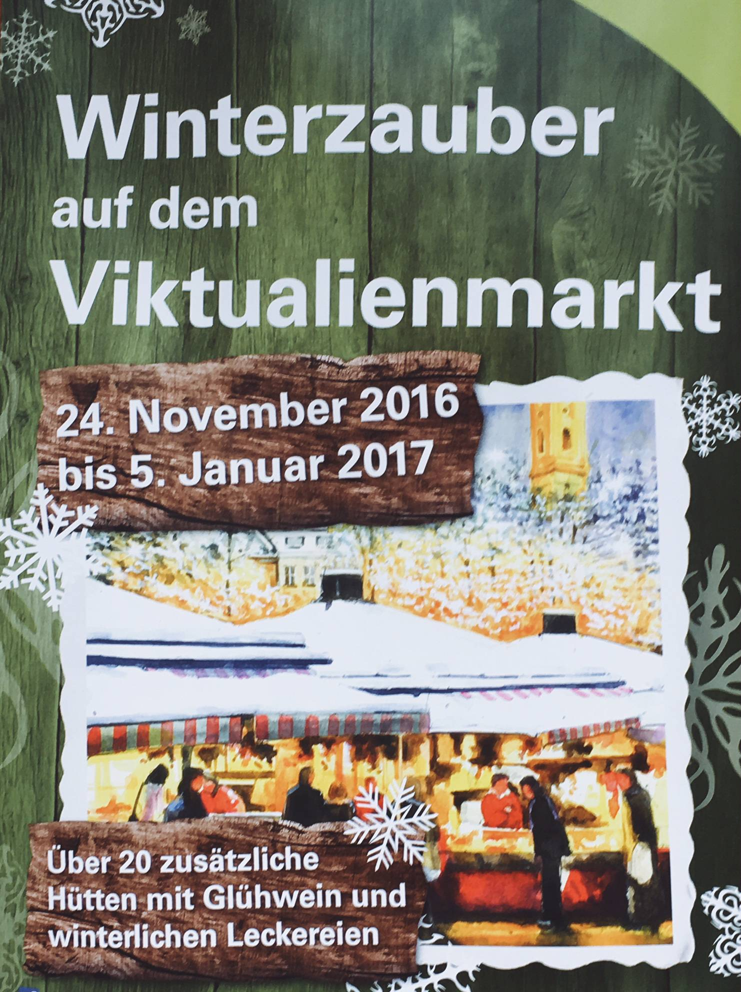 Winterzauber auf dem Viktualienmarkt, München