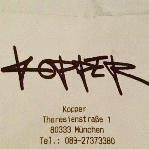 Kopper Cocktail Bar & Restaurant, Muenchen